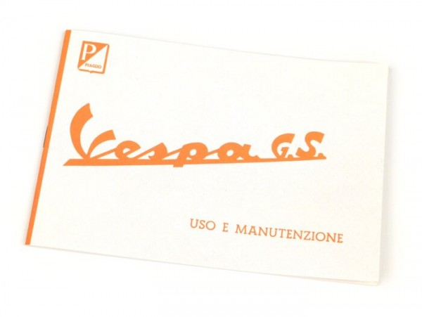 Owner's manual -VESPA- Vespa GS 160 (1963)
