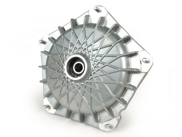 "Bremstrommel vorne 10"" -GRIMECA NT- Vespa PX (Bj. 1982-1997), T5 125cc, PK S, PK XL, PK XL2 - Ø=20mm - Silbern"