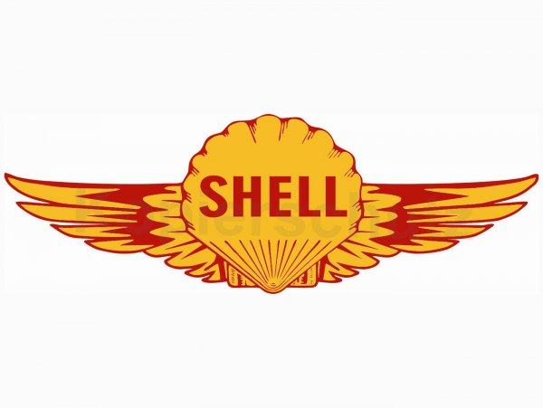 """Aufkleber -120 x 40mm- """"Shell Flügel"""""""