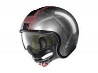 Helmet -NOLAN, N21 Joie de Vivre- open face helmet, scratched chrome - XXXL (64cm)