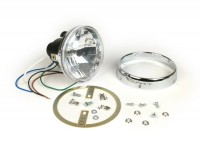 Headlight set clear lens -JOCKEYS 12V 35/35W HS1 (H4)- Lambretta LI (series 1), TV (series 1)