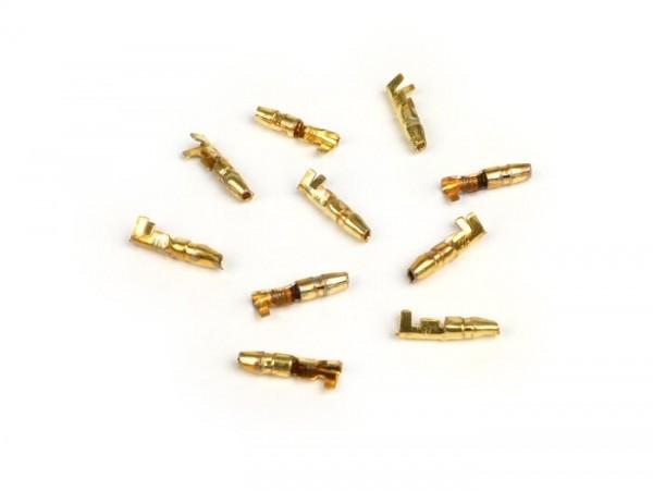 Terminal cable -punta macho 4mm Ø=0,5-1,0mm²- 10 unidades