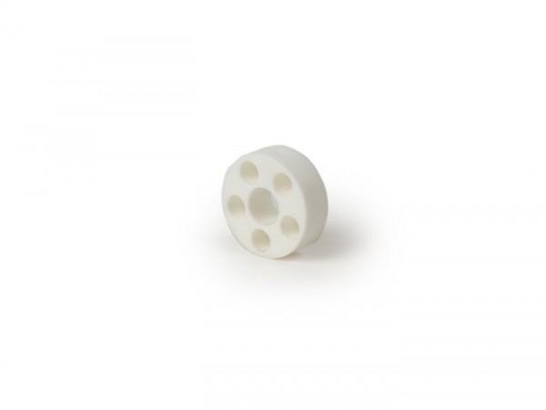 Arandela distanciadora de plástico Ø=18x6,4x6mm para guardabarros -CALIDAD OEM- Vespa V50, V90, PV125, ET3 125
