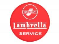 Aufkleber -LAMBRETTA Innocenti Lambretta Service Ø=75mm- Rot