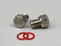 Oil drain plug set M8 x 8mm -GRAND SPORT with magnet- Vespa PX, T5 125cc, Cosa, Rally180 (VSD1T), Rally200 (VSE1T), Sprint150 (VLB1T), TS125 (VNL3T), GT125 (VNL2T), GTR125 (VNL2T), GL150 (VLA1T), Super, SS180 (VSC1T), GS160 / GS4 (VSB1T),
