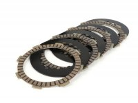 Clutch friction discs incl. steel discs -BGM PRO SPORT-  type Honda CR80, for BGM PRO Superstrong CR, CR 2.0 Ultralube clutch spider, Ø=110mm - 4 discs