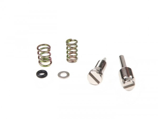 Fuel/air mixture screw and throttle valve ajduster screw set -DellOrto PHBN carburettor- Minarelli 50cc (manual choke)