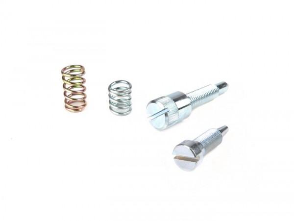Fuel/air mixture screw and throttle valve ajduster screw set -DellOrto PHVA Vergaser- Piaggio 50cc 2-stroke