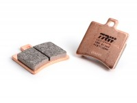 Pastillas de freno trasero -TRW sinterizado SRM (con ABE)- para pinza de freno PORCO NERO POWER CNC by Spiegler 2 pistones, Ø=29mm- Vespa GT/GTS/GTV 125-300cc (con/sin ABS)