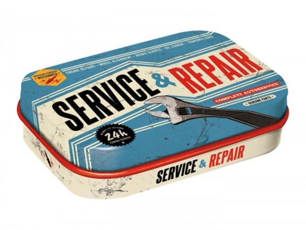 """Pillendose -Nostalgic Art- """"Service & Repair"""" - 4x6x2cm"""