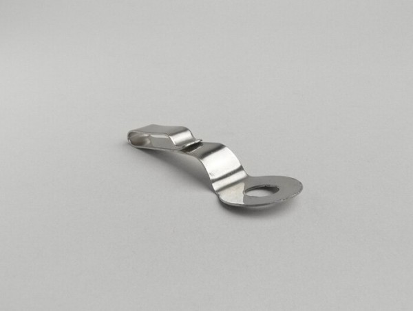Speedo cable clip -SPAQ- Lambretta LI (series 3), LI S, SX, TV (series 3), DL, GP - stainless steel