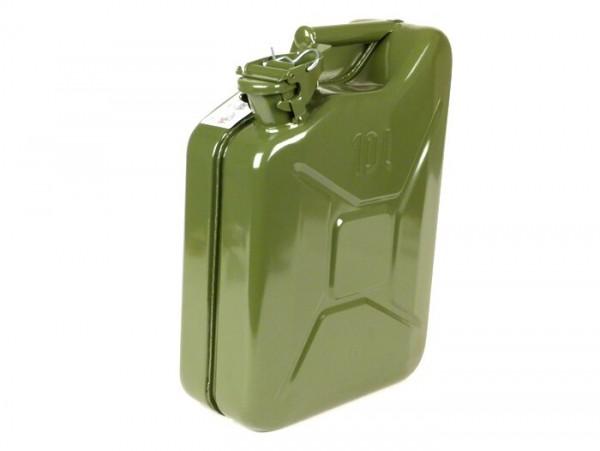 Bidón de gasolina 10l -FA ITALIA, metal- verde oliva