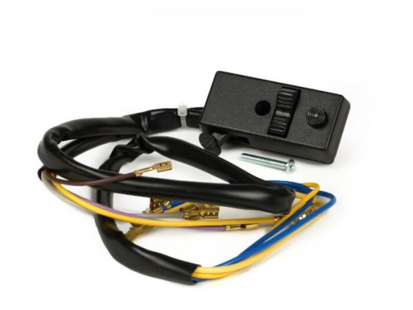 Lichtschalter -VESPA- PX80, PX125, PX150, PX200 (Bj. 1978-1983) - 9 Kabel (12V Modelle mit Blinker, ohne Batterie)