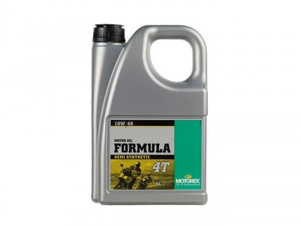 Öl - Motoröl -MOTOREX Formula 4T- 4-Takt SAE 10W-40 synthetisch - 4000ml