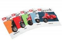 Raccolta depliant -SC Specials: VESPA Modern & Classic (GTS, Sprint, Primavera, PX, Largeframe, Smallframe), Lambretta Classic - italiano