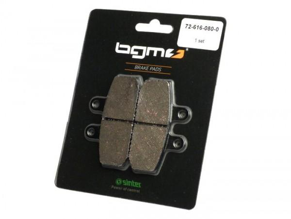 Brake pads -BGM 79x47.1mm- HONDA Bali SJ EX 100cc 1995 (f), Bali SJ 50cc 1995 (f), Rebel CA 125cc 1999 (f), Cityfly 125cc 1999 (f)