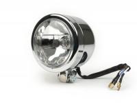 Auxillary head light -UNIVERSAL- Ø outer 110mm, Ø lens 90mm, HS1 35/35W - Chrome