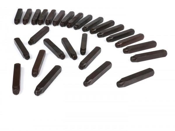 Punzone -6mm-LETTERE A-Z - per numero telaio
