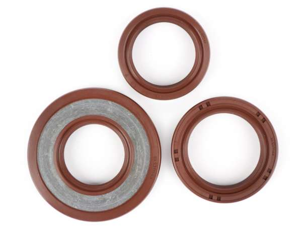 Oil seal set engine -BGM PRO, FKM/Viton® (E10/etahnol resistant)- Vespa Smallframe 24mm - (used for crankshaft conversion ETS Vespa V50, V90, SS50, SS90, PV125, ET3, PK S, PK XL)