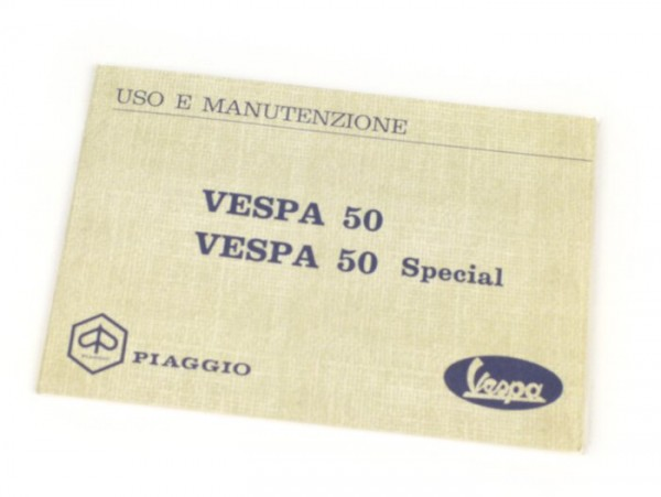Owner's manual -VESPA- Vespa 50 Special (series 1)