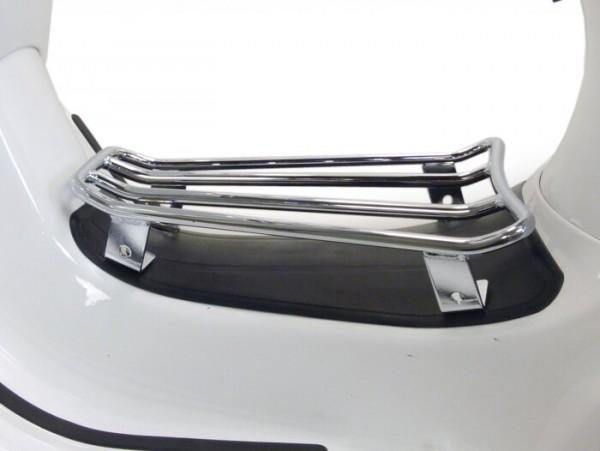 Gepäckträger Durchstieg -MOTO NOSTRA- Vespa GTS 125-300, GTV, GTL, GT - chrom