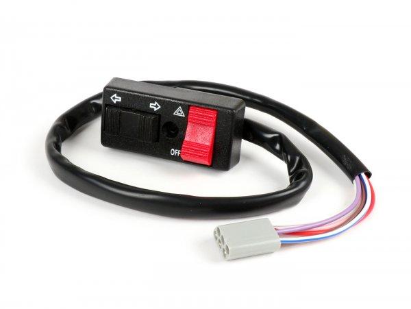 Blinkerschalter (mit Warnblink Funktion) -OEM QUALITÄT- Vespa PK50 S/XL, PK80, PK125 S, PK125 ETS, PX80, PX125, PX150, PX200 (ab Bj. 1984) - 6 Kabel mit Multistecker