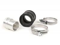Collettore aspirazione con gomma -STROHSPEED- per carburatore DellOrto PHBL22/24/26 - conversione da raccordo in metallo a raccordo in gomma - attacco=30mm (28,5mm->30mm)