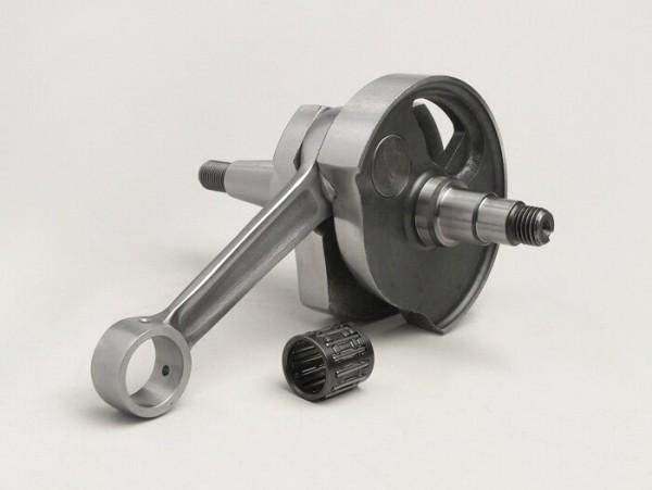 Cigüeñal -MAZZUCCHELLI Racing (válvula rotativa), carrera 51mm, biela 97mm- cigüeñal de conversión Vespa PK50 XL/XL2 a 125cc (cono Ø=20mm)