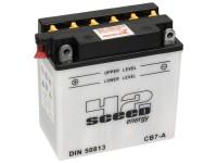 Batterie -Standard SCEED 42 Energy- CB7-A - YB7-A- 12V 8Ah - 135x75x133mm (inkl. Säurepack) - Vespa Cosa (ohne Elestart), PX E Lusso (alle ohne Elestart), PK50 / PK80 / PK125 XL / XL2 Elestart, Piaggio SKR125, TPH125, Sfera125