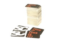 Beer mat (100x) -SC / BGM THIS IS  IT!- Scooter-Center - 93x93mm - black/white
