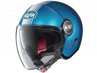 Helm -NOLAN N21 Visor Joie De Vivre- Jethelm, flat sapphire blue - L (59-60cm)