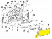 Glove box flap -PIAGGIO- Vespa GT (ZAPM31), Vespa GTL (ZAPM31), GTS 125-300 (ZAPM31, ZAPM45), Vespa GTV (ZAPM31, ZAPM45)