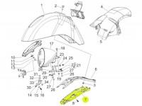 Spritzschutz für Montagegrundplatte Scheinwerfer -PIAGGIO- Vespa GTV (ZAPM31, ZAPM45)