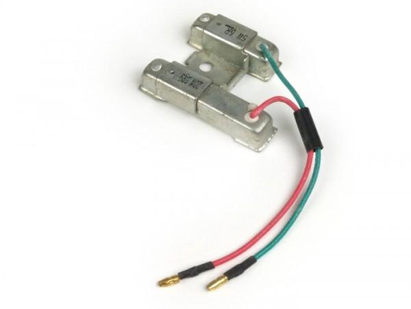 Vorwiderstand für Lichtanlage -101 OCTANE 20W + 5W- GY6 50ccm 4-Takt (139QMA, 139QMB), GY6 125 ccm 4-Takt (152QMI), GY6 150 ccm 4-Takt (157QMJ), Kymco 50ccm 4-Takt)