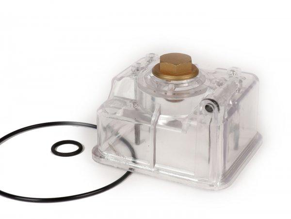 Cuba del flotador -MALOSSI- VHST - transparente con tornillo de chorro principal y juntas.