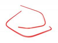 Leg shield beading set -MOTO NOSTRA- Vespa GT, GTL, GTS 125-300 (-2018), GTV (-2018)  - red