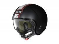 Helmet -NOLAN, N21 Joie de Vivre- open face helmet, matt black - red - L (59-60cm)