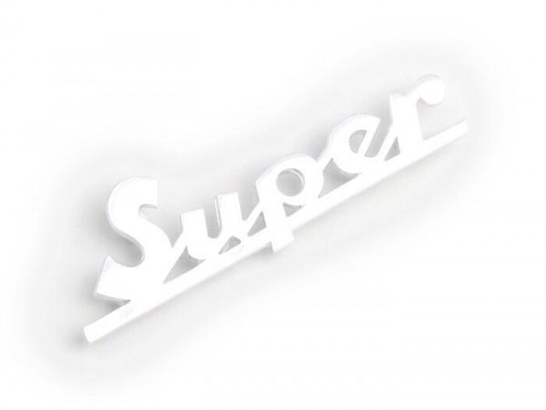 Schriftzug Beinschild -OEM QUALITÄT- Vespa Super - Vespa Super 125 (ab Bj. 1965), Vespa Super 150 (ab Bj. 1965)