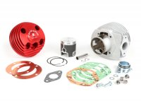 Cylinder -PARMAKIT TSV09 Red Devil 177 ccm 3 Ports, 57mm stroke,  dual exhaust port, dual cylinder head, threads for exhaust stub fixing- Vespa PX125, PX150, Cosa125, Cosa150, LML Star 125/150, Stella 125/150