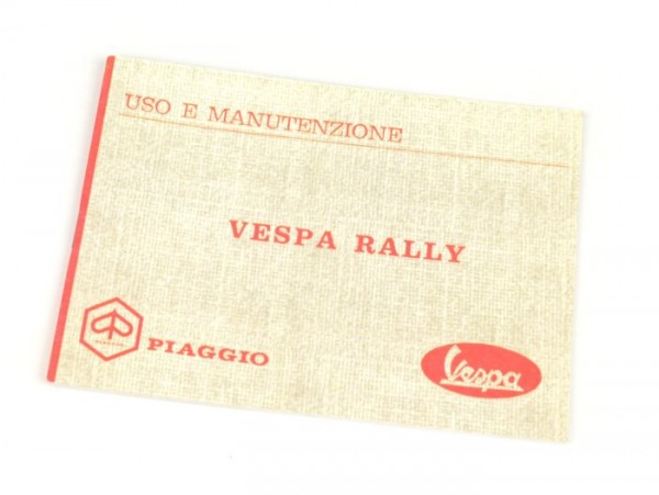 Owner's manual -VESPA- Vespa Rally 180