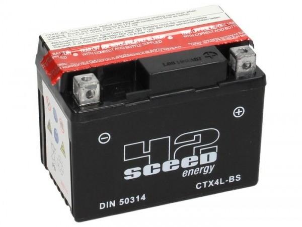 Batterie -Wartungsfrei SCEED 42 Energy- CTX4L-BS- 12V, 3Ah - 86x71x114mm (inkl. Säurepack)