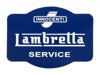 Aufkleber -LAMBRETTA Innocenti Lambretta Service 90x60- Blau