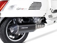 Pot d'échappement -REMUS (avec catalyseur) Ø65mm Sportexhaust- Vespa GTS 300ie SUPER (ZAPMA33) - (Euro 4, 2016-) - carbone