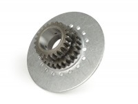Clutch sprocket -DRT Vespa type 7 springs (Rally200, PX200, T5 125cc)- for primary gear DRT 62 tooth (straight) - 23 tooth