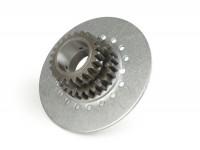 Engrenage primaire -DRT Vespa type 7 ressorts (Rally200, PX200, T5 125cc)- pour pignon élastique DRT de 62 dents (dents droites) - 23 dents