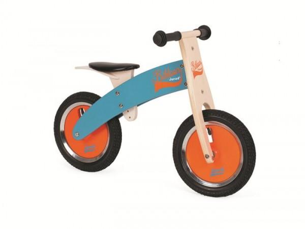 Balance bike, wood -JANOD- blue/orange