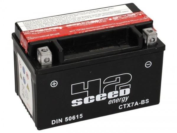 Batterie -Wartungsfrei SCEED 42 Energy- CTX7A-BS - 12V, 6Ah - 150x87x94mm (inkl. Säurepack)
