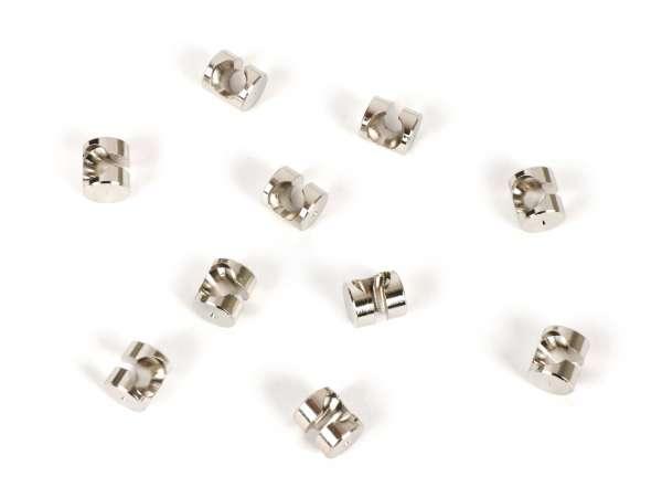 Embout câble -BGM ORIGINAL- tête Ø=8x9mm (type à tête basse) - Vespa PX, T5 125cc, Rally, Sprint, VBB, VNB, VNA, VBA, Super, TS, GT, GTR, V50, 50N, SS50, SS90, V90, V100, PV, ET3 - 10 unités