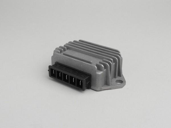 Regulador de tensión -5-clavijas 12V (G|G|B+|C|Masse)- Vespa PX Elestart (a partir del año 1998), Cosa, Cosa2 Elestart, PK XL2 Elestart