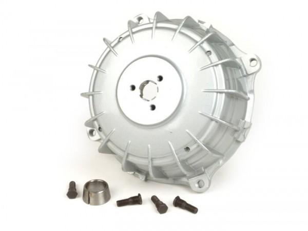 Bremstrommel hinten -UNI- Lambretta LI (Serie 3), LIS, SX, TV (Serie 3), DL, GP - Silbern lackiert